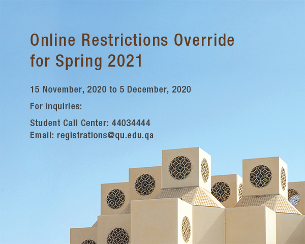 Online Restrictions Override for Spring 2021